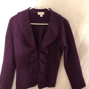 Charter Club Sweaters - Charter Club Purple Cardigan size Small Petite